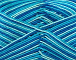 Ne: 8/4. Nm 14/4 Fiber Content 100% Mercerised Cotton, Turquoise, Brand Ice Yarns, Blue Shades, Yarn Thickness 2 Fine  Sport, Baby, fnt2-34757