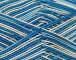 Ne: 8/4. Nm 14/4 Fiber Content 100% Mercerised Cotton, White, Brand Ice Yarns, Blue Shades, Yarn Thickness 2 Fine  Sport, Baby, fnt2-34758