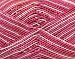 Ne: 8/4. Nm 14/4 Fiber Content 100% Mercerised Cotton, White, Rose Pink, Brand Ice Yarns, Yarn Thickness 2 Fine  Sport, Baby, fnt2-34762