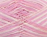 Ne: 8/4. Nm 14/4 Fiber Content 100% Mercerised Cotton, White, Pink, Lilac, Brand Ice Yarns, Yarn Thickness 2 Fine  Sport, Baby, fnt2-34763