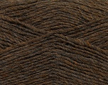 Fiber Content 50% Acrylic, 50% Wool, Brand ICE, Brown Melange, Yarn Thickness 3 Light  DK, Light, Worsted, fnt2-35025
