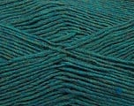 Fiber Content 50% Acrylic, 50% Wool, Teal Melange, Brand Ice Yarns, Yarn Thickness 3 Light  DK, Light, Worsted, fnt2-35027