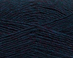 Fiber Content 50% Acrylic, 50% Wool, Navy Melange, Brand ICE, Yarn Thickness 3 Light  DK, Light, Worsted, fnt2-35028