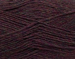 Fiber Content 50% Acrylic, 50% Wool, Maroon Melange, Brand ICE, Yarn Thickness 3 Light  DK, Light, Worsted, fnt2-35029