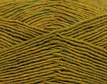 Fiber Content 50% Acrylic, 50% Wool, Olive Green Melange, Brand ICE, Yarn Thickness 3 Light  DK, Light, Worsted, fnt2-35030