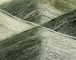 Fiber Content 70% Mohair, 30% Acrylic, White, Brand ICE, Green Shades, Yarn Thickness 3 Light  DK, Light, Worsted, fnt2-35066