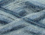 Fiber Content 70% Mohair, 30% Acrylic, Brand ICE, Blue Shades, Yarn Thickness 3 Light  DK, Light, Worsted, fnt2-35068