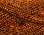 Fiber Content 70% Angora, 30% Acrylic, Orange, Brand Ice Yarns, Gold, Copper, Brown, Yarn Thickness 2 Fine  Sport, Baby, fnt2-35083