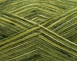 Fiber Content 70% Angora, 30% Acrylic, Brand Ice Yarns, Green Shades, Yarn Thickness 2 Fine  Sport, Baby, fnt2-35086