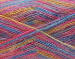 Fiber Content 70% Angora, 30% Acrylic, Pink, Brand Ice Yarns, Gold, Blue, Yarn Thickness 2 Fine  Sport, Baby, fnt2-35091