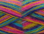 Fiber Content 70% Angora, 30% Acrylic, Yellow, Turquoise, Purple, Pink, Brand Ice Yarns, Green, Yarn Thickness 2 Fine  Sport, Baby, fnt2-35096