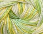 Fiber Content 60% Premium Acrylic, 40% Merino Wool, Yellow, Brand Ice Yarns, Green, Cream, Yarn Thickness 2 Fine  Sport, Baby, fnt2-35578