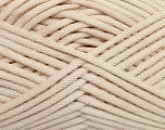 This is a tube-like yarn with soft fleece inside. Fiber Content 73% Viscose, 27% Polyester, Brand Ice Yarns, Beige, Yarn Thickness 5 Bulky  Chunky, Craft, Rug, fnt2-35600