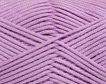 This is a tube-like yarn with soft fleece inside. Fiber Content 73% Viscose, 27% Polyester, Light Lilac, Brand Ice Yarns, Yarn Thickness 5 Bulky  Chunky, Craft, Rug, fnt2-35607