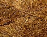 Fiber Content 75% Polyester, 25% Metallic Lurex, Brand Ice Yarns, Gold, Camel, Yarn Thickness 5 Bulky  Chunky, Craft, Rug, fnt2-35803