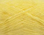 Fiber Content 70% Acrylic, 30% Angora, Light Yellow, Brand Ice Yarns, Yarn Thickness 2 Fine  Sport, Baby, fnt2-36440