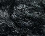 Fiber Content 100% Polyester, Brand Ice Yarns, Grey, Black, Yarn Thickness 5 Bulky  Chunky, Craft, Rug, fnt2-36726