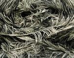 Fiber Content 100% Polyester, Brand Ice Yarns, Cream, Black, Yarn Thickness 5 Bulky  Chunky, Craft, Rug, fnt2-36731
