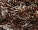 Fiber Content 100% Polyester, White, Brand Ice Yarns, Brown, Yarn Thickness 5 Bulky  Chunky, Craft, Rug, fnt2-36734