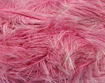 Fiber Content 100% Polyester, White, Light Pink, Brand Ice Yarns, Yarn Thickness 5 Bulky  Chunky, Craft, Rug, fnt2-36737