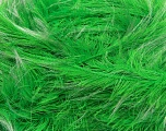 Fiber Content 100% Polyester, White, Neon Green, Brand Ice Yarns, Yarn Thickness 5 Bulky  Chunky, Craft, Rug, fnt2-36738