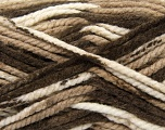 Fiber Content 100% Acrylic, Brand ICE, Cream, Brown Shades, Yarn Thickness 6 SuperBulky  Bulky, Roving, fnt2-36966
