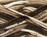 Fiber Content 100% Acrylic, Brand Ice Yarns, Cream, Brown Shades, Yarn Thickness 6 SuperBulky  Bulky, Roving, fnt2-36966