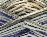 Fiber Content 100% Acrylic, White, Purple, Mint Green, Light Grey, Brand Ice Yarns, Yarn Thickness 6 SuperBulky  Bulky, Roving, fnt2-36967