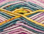 Fiber Content 100% Acrylic, Yellow, White, Turquoise, Pink, Brand Ice Yarns, Fuchsia, Yarn Thickness 6 SuperBulky  Bulky, Roving, fnt2-36968