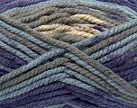 Fiber Content 100% Acrylic, Purple, Light Blue, Brand Ice Yarns, Grey, Yarn Thickness 6 SuperBulky  Bulky, Roving, fnt2-36975
