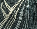 Fiber Content 40% Acrylic, 35% Wool, 25% Alpaca, White, Brand ICE, Grey Shades, Black, Yarn Thickness 2 Fine  Sport, Baby, fnt2-36979