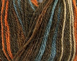 Fiber Content 40% Acrylic, 35% Wool, 25% Alpaca, Orange, Brand ICE, Camel, Brown, Blue, Yarn Thickness 2 Fine  Sport, Baby, fnt2-36980