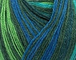 Fiber Content 40% Acrylic, 35% Wool, 25% Alpaca, Turquoise, Brand ICE, Green Shades, Blue, Yarn Thickness 2 Fine  Sport, Baby, fnt2-36988