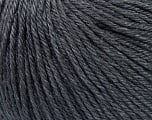 Fiber Content 50% Silk, 30% Merino Superfine, 20% Cashmere, Brand ICE, Dark Grey, Yarn Thickness 3 Light  DK, Light, Worsted, fnt2-36991