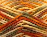 Fiber Content 100% Acrylic, Yellow, Orange, Brand Ice Yarns, Green, Brown, Yarn Thickness 6 SuperBulky  Bulky, Roving, fnt2-37038