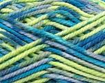 Fiber Content 100% Acrylic, Brand Ice Yarns, Grey, Green, Blue, Yarn Thickness 6 SuperBulky  Bulky, Roving, fnt2-37039