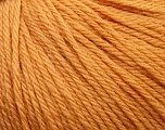 Fiber Content 100% Wool, Light Orange, Brand Ice Yarns, Yarn Thickness 4 Medium  Worsted, Afghan, Aran, fnt2-37999