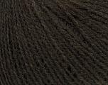 Fiber Content 50% Acrylic, 25% Merino Wool, 25% Alpaca, Brand ICE, Dark Brown, Yarn Thickness 2 Fine  Sport, Baby, fnt2-38100