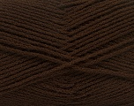 Fiber Content 100% Acrylic, Brand Ice Yarns, Dark Brown, Yarn Thickness 3 Light  DK, Light, Worsted, fnt2-39100