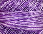 Fiber Content 100% Micro Fiber, Lilac Shades, Brand ICE, Yarn Thickness 0 Lace  Fingering Crochet Thread, fnt2-40210