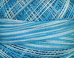 Fiber Content 100% Micro Fiber, Brand ICE, Blue Shades, Yarn Thickness 0 Lace  Fingering Crochet Thread, fnt2-40212