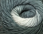 Fiber Content 50% Acrylic, 50% Wool, Brand Ice Yarns, Grey Shades, Yarn Thickness 2 Fine  Sport, Baby, fnt2-40621