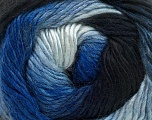 Fiber Content 50% Acrylic, 50% Wool, Brand Ice Yarns, Blue Shades, Yarn Thickness 2 Fine  Sport, Baby, fnt2-40622