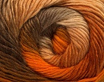Fiber Content 50% Wool, 50% Acrylic, Brand ICE, Gold, Brown Shades, Yarn Thickness 2 Fine  Sport, Baby, fnt2-40624