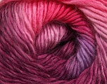 Fiber Content 50% Wool, 50% Acrylic, Pink Shades, Maroon, Lilac, Brand ICE, Yarn Thickness 2 Fine  Sport, Baby, fnt2-40627