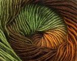 Fiber Content 50% Wool, 50% Acrylic, Brand Ice Yarns, Green Shades, Brown Shades, Yarn Thickness 2 Fine  Sport, Baby, fnt2-40628