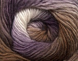 Fiber Content 50% Wool, 50% Acrylic, White, Purple, Brand Ice Yarns, Brown Shades, Yarn Thickness 2 Fine  Sport, Baby, fnt2-40629