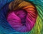 Fiber Content 50% Acrylic, 50% Wool, Rainbow, Brand Ice Yarns, Yarn Thickness 2 Fine  Sport, Baby, fnt2-40633