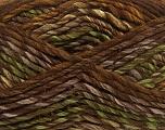Fiber Content 75% Acrylic, 25% Wool, Brand Ice Yarns, Green, Brown Shades, Yarn Thickness 5 Bulky  Chunky, Craft, Rug, fnt2-40814