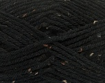 Fiber Content 72% Acrylic, 3% Viscose, 25% Wool, Brand ICE, Black, Yarn Thickness 6 SuperBulky  Bulky, Roving, fnt2-40833